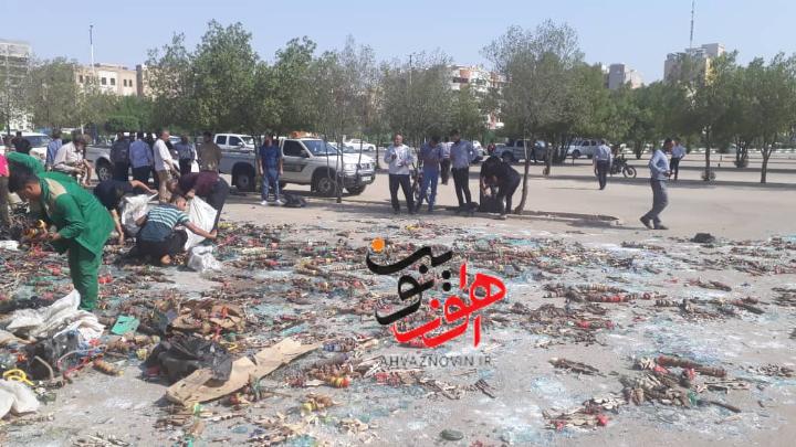 معدوم سازی ۶ هزار قلیان  توسط شهرداری اهواز