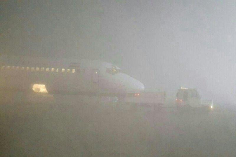 مه سبب تاخیر و باطل شدن چند پرواز فرودگاه اهواز شد