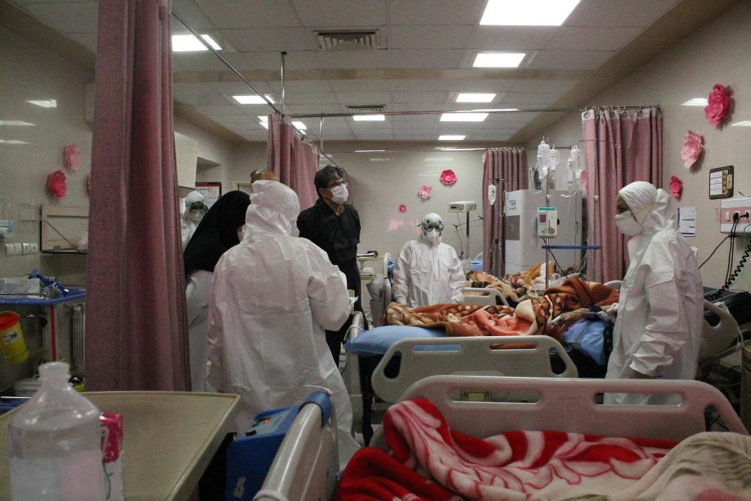 تصویری|بخش ویژه بیماران کرونا در بیمارستان رازی اهواز