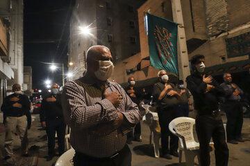 آیین عزاداری شب هفتم ماه محرم در اهواز