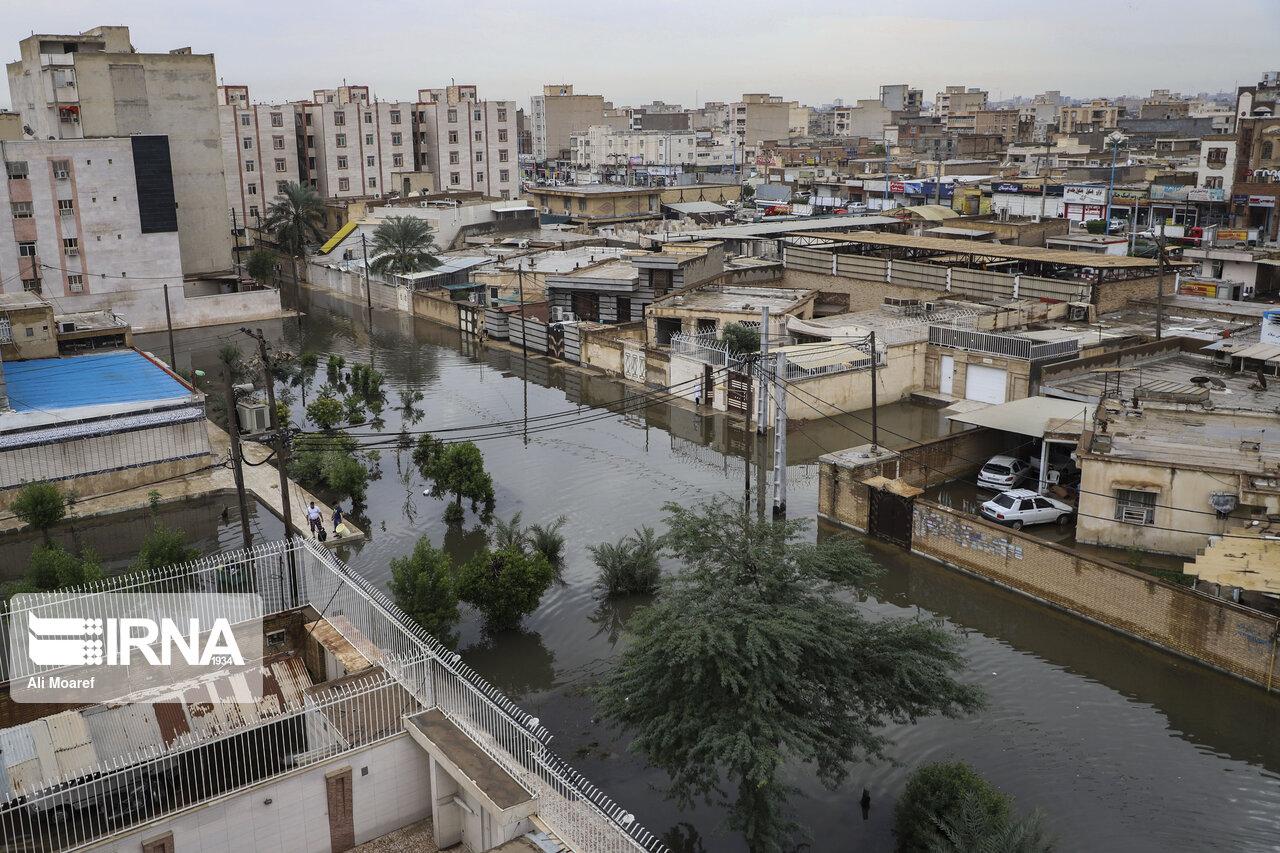 خانه اهوازیها بازهم در محاصره باران