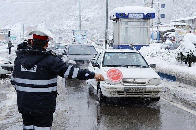هشدار پلیس راهور درباره لغزندگی جادهها