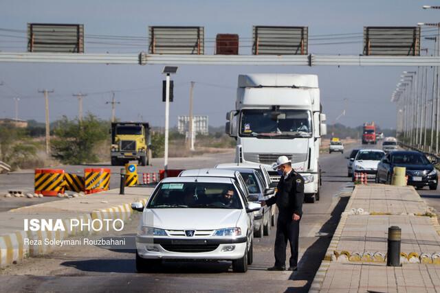 جلوگیری از ورود و خروج خودرو در شهرهای قرمز و نارنجی خوزستان