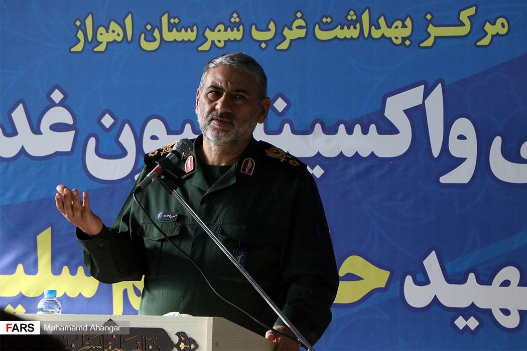فرمانده سپاه خوزستان: سپاه خوزستان برای مقابله با کرونا درکنار کادر بهداشت و درمان است